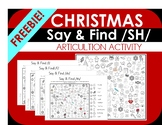 FREEBIE! Christmas Say and Find NO PREP PRINT & GO Articulation Activity