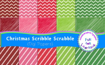 Christmas Scribble Papers
