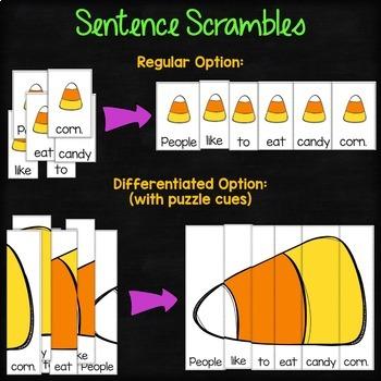 Halloween Sentence & Paragraph Scrambles