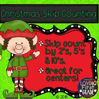 FREEBIE Christmas Skip Counting 2's, 5's, & 10's