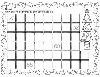FREEBIE Christmas Skip Counting 2's 5's & 10's