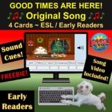 FREEBIE Christmas Song   Boom Cards   Video   Audio Cues  