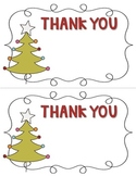 FREEBIE Christmas Thank You Note