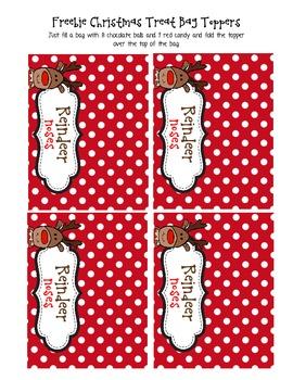 FREEBIE!!!!! Christmas Treat Bag Toppers