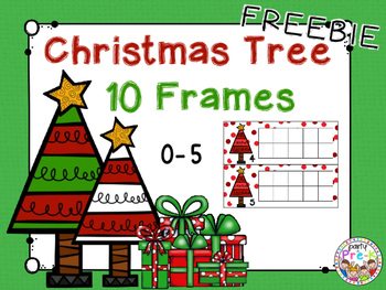 FREEBIE Christmas Tree Ten Frames 0-5