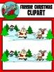 FREEBIE / Christmas / Winter Holiday Scene Clipart - Graphics