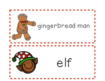 FREEBIE! Christmas Words for Pocket Charts
