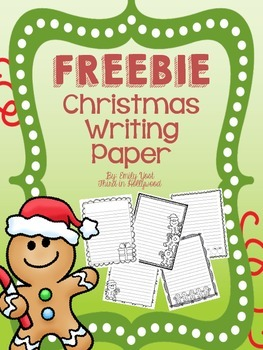 FREEBIE Christmas Writing Paper