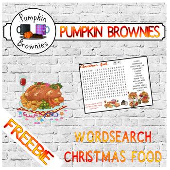 FREEBIE: Christmas food wordsearch