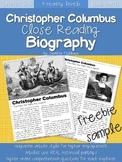 FREEBIE: Christopher Columbus Close Reading Biography