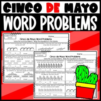 Cinco de Mayo Word Problem Worksheets