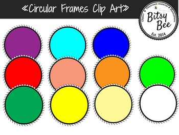 FREEBIE Circle Frames Clip Art.