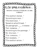 FREEBIE - Citing Your Evidence Sentence Starters - Poster