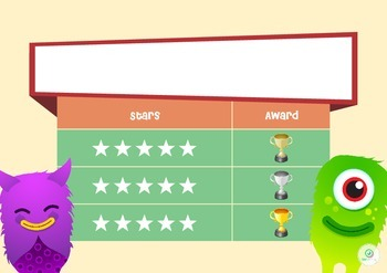 FREEBIE Class Dojo Reward Star Behaviour Chart with Editable Coupons