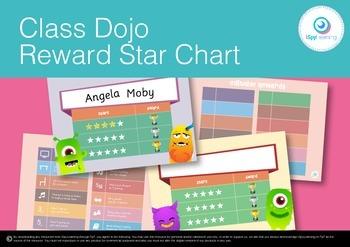 FREEBIE Class Dojo Reward Star Behaviour Chart with Editab