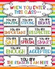 "Posters! Class and School FREEBIE!  ""When You Enter..."""