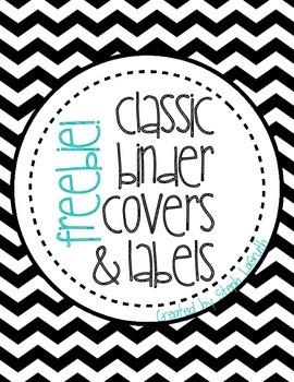 FREEBIE! Classic Binder Covers & Labels!