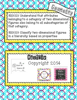 FREEBIE Classify Quadrilaterals