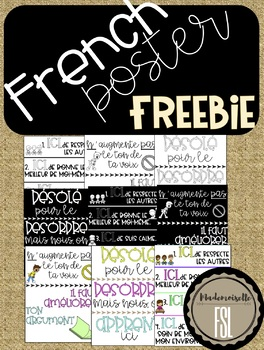 FREEBIE Classroom Decor Posters - French (3 Themes)