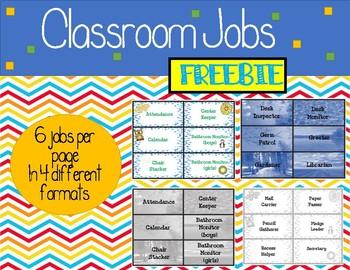 FREEBIE Classroom Job Headers