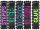 FREEBIE! Classroom Labels Chalkboard Neon