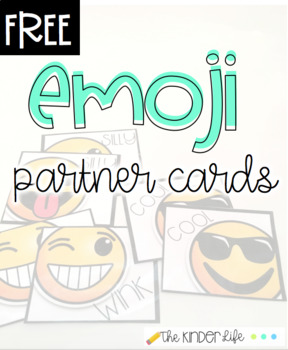 FREEBIE Classroom Management Emoji Partner Participation Cards