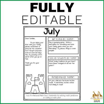 Classroom Newsletters!  Editable, Grade 3, 4, 5, Elementary