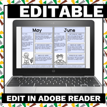 Classroom Newsletters for Grades Pre-K  and K!  Editable