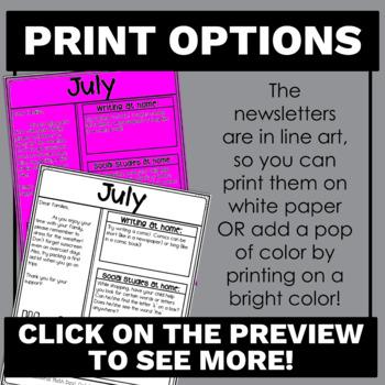 prek newsletters