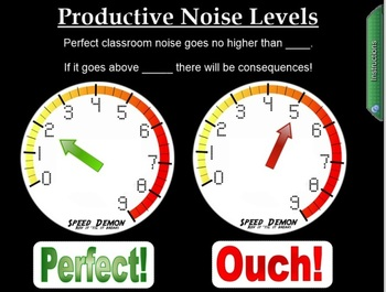 FREEBIE - Classroom Noise and Work Time Management - Smart NOTEBOOK visual