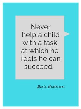 FREEBIE! Classroom Posters - Maria Montessori Quotes