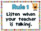 Classroom Rules {Monster Theme} Positive Behavior