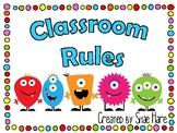 Classroom Rules {Monster Theme} Positive Behavior [EDITABLE]