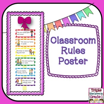Classroom Rules Poster - FREE