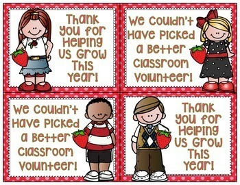 FREEBIE Classroom Volunteer Thank You Pack