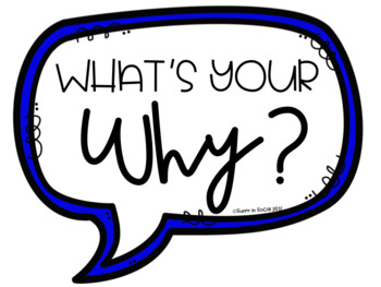 FREEBIE! Classroom poster What's your why?
