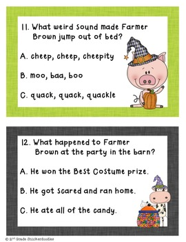 FREEBIE: Click, Clack, Boo! A Comprehension Scoot