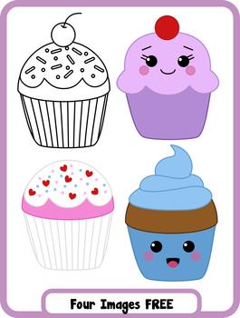 FREEBIE Clip Art - Cupcake clipart