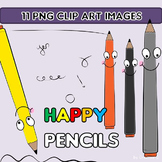 FREEBIE  Clip Art - PENCILS  - Commercial educational Use {Creative-C}
