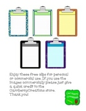 FREEBIE Clipboards Clipart