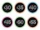 FREEBIE Clock Numbers- Bright Chalkboard
