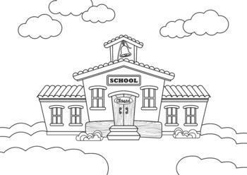 FREEBIE Schoolhouse Clipart