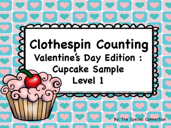 FREEBIE - Clothespin Counting Valentine's Day Edition Sample