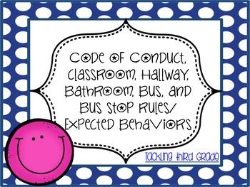 FREEBIE Code of Conduct, Expected Behaviors, School Rules