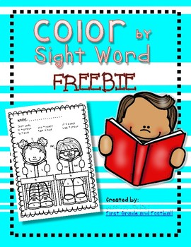 FREEBIE Color By Sight Word Lets Read
