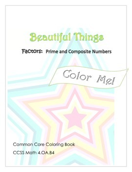 FREEBIE!  Color Me:  Prime and Composite Numbers, Factors