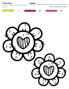 FREEBIE: Color by Code: Number & Letter Recognition | PreK | Valentine's Day