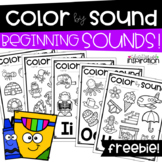 FREEBIE Color by Sound Beginning Sounds