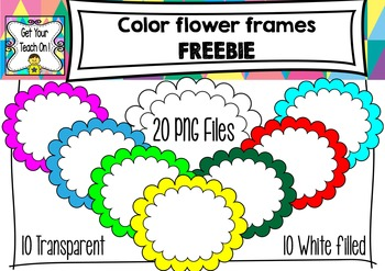 FREEBIE Colored Flower Cover Frames ~ for TPT Sellers and