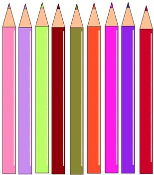 FREEBIE Colored Pencils Clip Art Collection